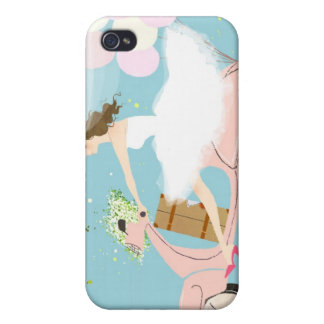 Bride Riding a Scooter iPhone 4/4S Cases