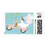 Bride Riding a Scooter Postage Stamp