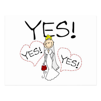Bride Says Yes Postcard