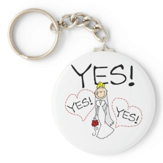 Bride Says Yes Tshirts and Gifts keychain