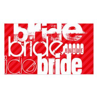 Bride; Scarlet Red Stripes Business Card
