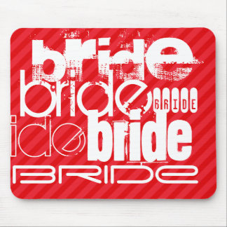 Bride; Scarlet Red Stripes Mouse Pad