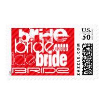 Bride; Scarlet Red Stripes Postage