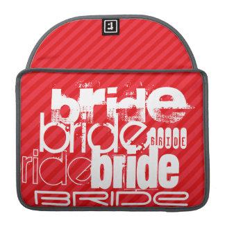 Bride; Scarlet Red Stripes Sleeves For MacBook Pro