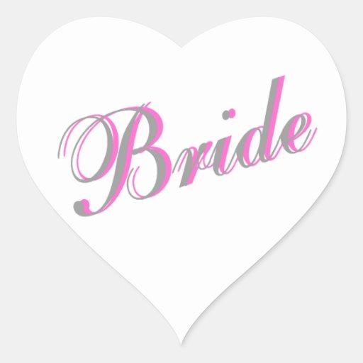 Bride (Script) Heart Sticker