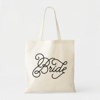 Bride Script New Wedding Tote Bags