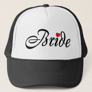 Bride (Script Red Hrt) Trucker Hat
