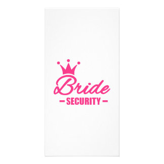 Bride security crown personalized photo card