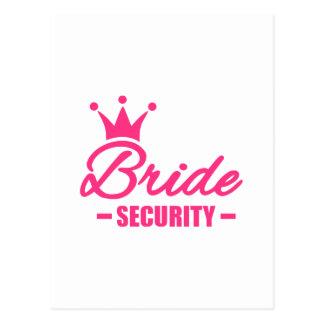 Bride security crown postcard