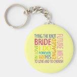Bride Sentiments Wedding Basic Round Button Keychain