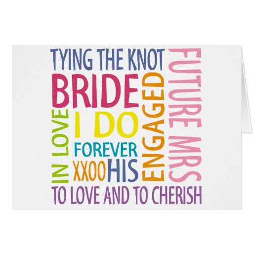 Bride Sentiments Wedding Card
