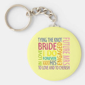 Bride Sentiments Wedding Key Chain
