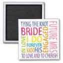 Bride Sentiments Wedding magnet