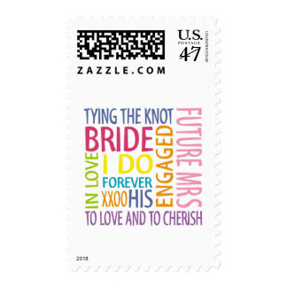 Bride Sentiments Wedding Stamps