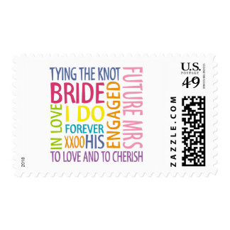 Bride Sentiments Wedding Stamps