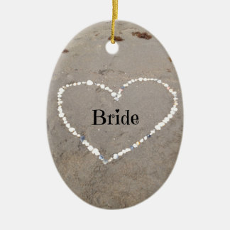 Bride Shell Heart. Ceramic Ornament