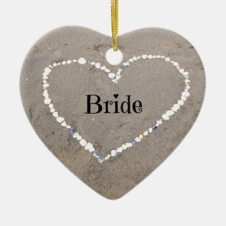 Bride Shell Heart. Ceramic Ornament
