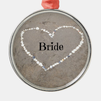 Bride Shell Heart. Metal Ornament