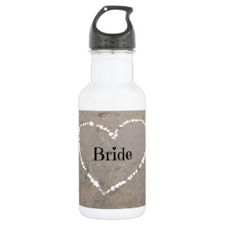 Bride Shell Heart. Water Bottle