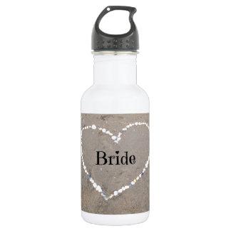 Bride Shell Heart. Water Bottle