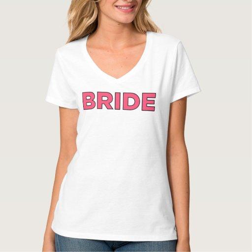 Bride Shirt V Neck Bridal Tee Shirt Design Zazzle