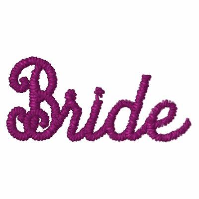 Bride shirt - won't ruin the bride's hair! embroidered polo shirt