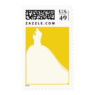 Bride Silhouette - Ball Gown Postage Stamp