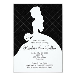 Bride Silhouette - Bridal Shower Invitaion (Black) Card