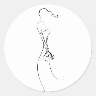 Bride Silhouette Clipart Wedding Stickers