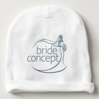 Bride Silhouette Holding Bouquet Concept Baby Beanie