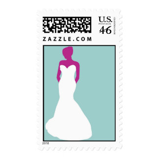 Bride Silhouette Postage Stamp