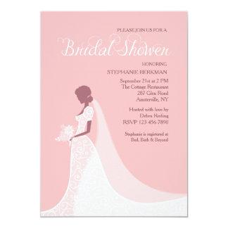 Bride Silhouette Shower Invitation