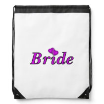 Bride Simply Love Wedding Drawstring Bag