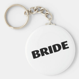 Bride Slanted Black Keychain