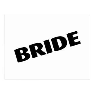 Bride Slanted Black Postcard