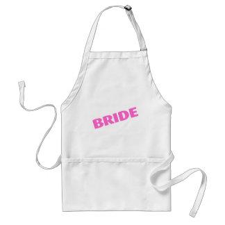 Bride Slanted Pink Adult Apron