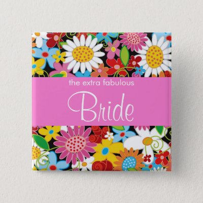 Spring flowers garden wedding flower girl name tag button zazzle mightylinksfo