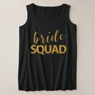 Bride Squad Faux sequins Plus-Size Tank Top