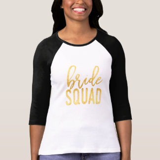 Bride Squad Gold T-Shirt