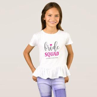 Bride Squad Hot Pink Bridal Shirt for Flower Girl