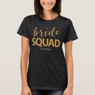 53639d3ed Bride Squad T-Shirts - T-Shirt Design & Printing | Zazzle