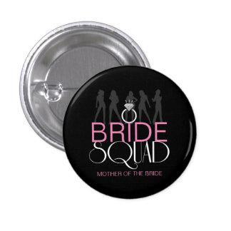 Bride Squad Silhouettes White on Dark  ID252 Button