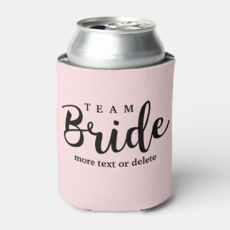 Bride Squad, Team Bride, Chic Modern Wedding Party Can Cooler