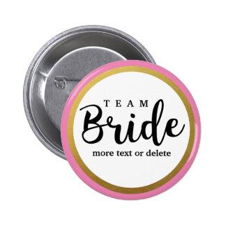 Bride Squad, Team Bride, Chic Modern Wedding Party Pinback Button