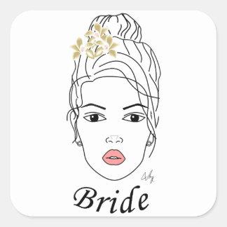 BRIDE SQUARE STICKER