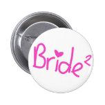 Bride squared 2 inch round button