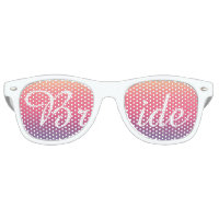 Bride Sunset Watercolor Ombre Purple Beach Retro Sunglasses