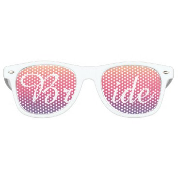 Beach Themed Bride Sunset Watercolor Ombre Purple Beach Retro Sunglasses