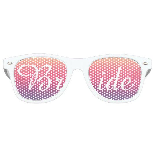 ec4dd7cbc19 Bride Sunset Watercolor Ombre Purple Beach Retro Sunglasses