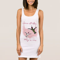 Bride T-shirt Humming Birds & Grunge Heart